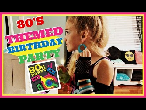 ✌️80S THEMED BIRTHDAY PARTY: GET READY WITH ME!