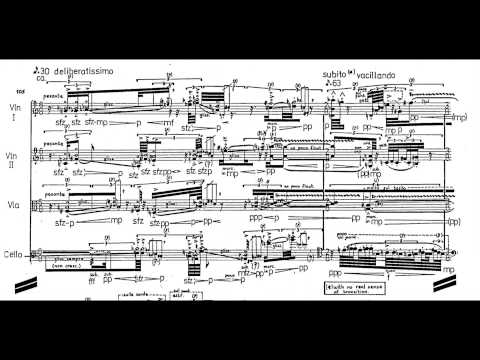 Brian Ferneyhough - String Quartet No. 2 (w/ Score) (1979/80)