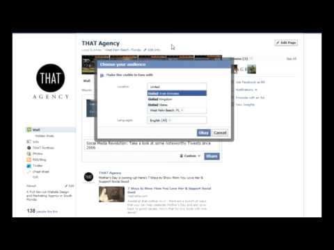 How to Geo-Target a Facebook Status Update