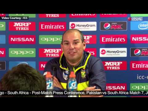 Russell Domingo - South Africa - Post Match PC, Pakistan vs South Africa Match 7, June 7, 2017