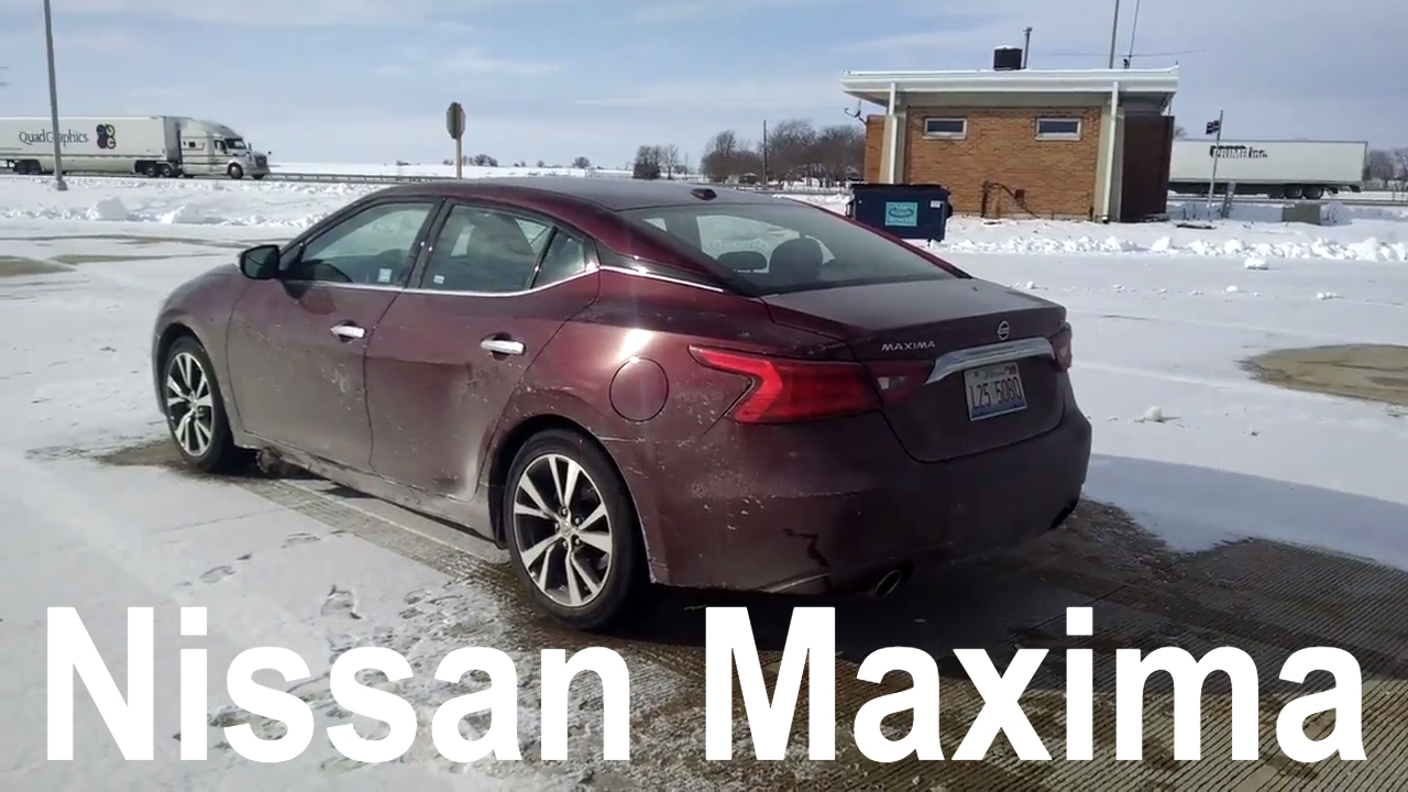 2017 Nissan Maxima SV | Full Rental Car Review and Test Drive - YouTube