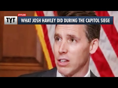 How Josh Hawley Acted During US Capitol Siege