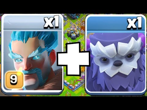 """NEW ICE YETI COMBO!! """"Clash Of Clans"""" PUSH To MAX TH13"""
