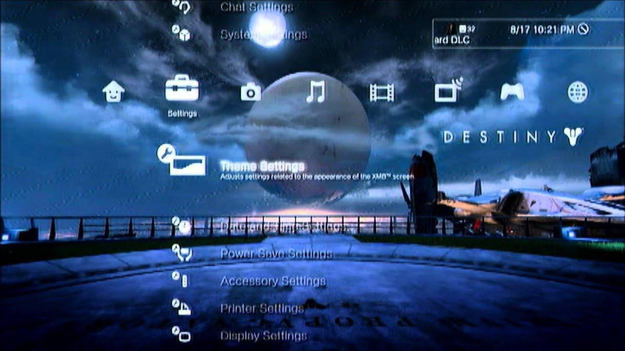 destiny ps3 dynamic theme day n night preorder bonus youtube