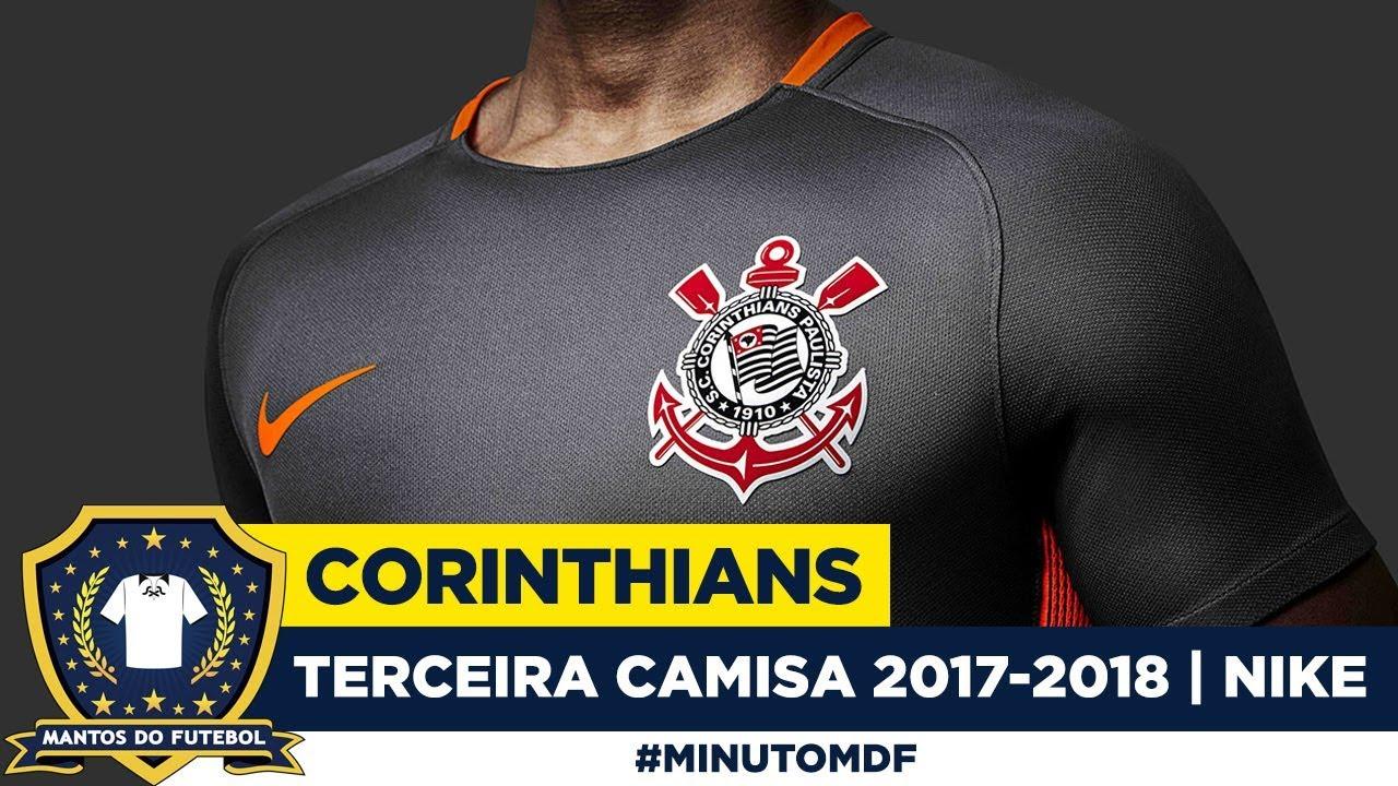 Terceira camisa cinza do Corinthians 2017-2018 Nike - YouTube 84bddc0d34de3