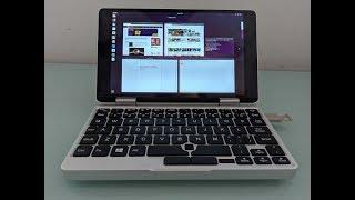 One Mix 2S Yoga mini laptop running Ubuntu 18.04