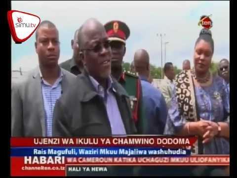 Rais Magufuli Atembelea Eneo La Ujenzi Wa Ikulu Chamwino Dodoma