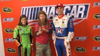 Joe Dirt gives advice to Harvick and Danica