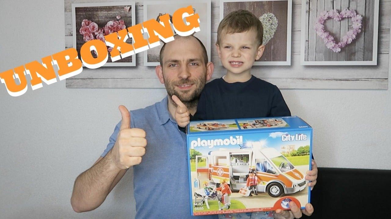playmobil krankenwagen 6685 unboxing youtube. Black Bedroom Furniture Sets. Home Design Ideas