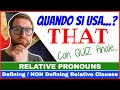 Relative Pronouns, Defining and NON defining Relative Clauses