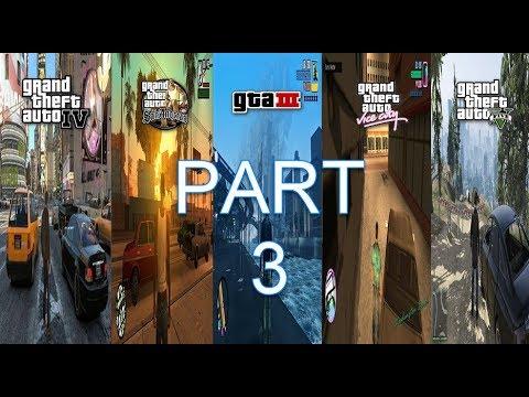 SBS Comparison Of ALL GTA Games! (GTA 3 Vs VC Vs SA Vs IV Vs V)