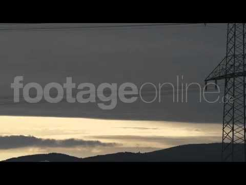 Electric Power Line Timelapse Footage_000896