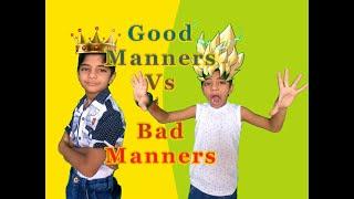Good Manners Vs Bad Manners #SKETCH #FUN #COMEDY II Fun WIth Anagh Aadriti