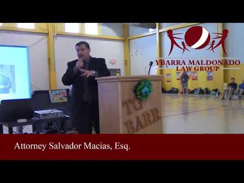 Salvador Macias at TG Barr Elementary School