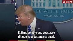 Trump suggère des injections de désinfectant pour lutter contre le Covid-19
