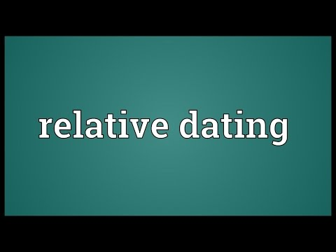Means of relative dating