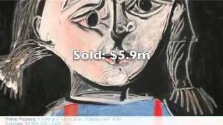 Picasso Prices @Sothebys, 3 may