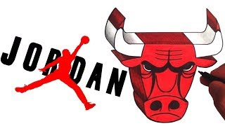 How to Draw the AIR JORDAN and Chicago Bulls Logo