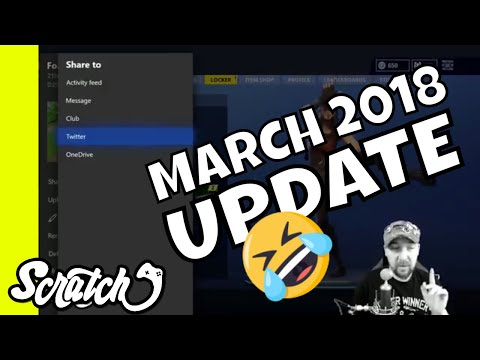 Share Xbox Captures to Twitter - March 2018 Xbox Insider Dashboard Update