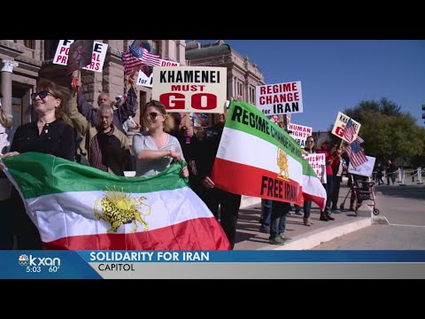 Iranian-Americans protest Iran's government in Capitol rally