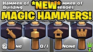 "HOW TO USE THE *NEW* MAGIC HAMMERS! - ""Clash of Clans"""