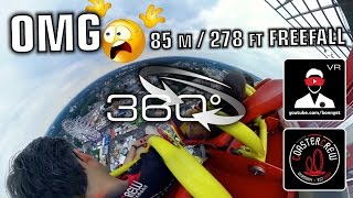 Hangover The Tower - Gyro Freefall Tower 360 video on-ride Cranger Kirmes 2016 360° VR Experience(Kodak Pixpro SP360 4K / front row onride 360 degree video / 360 Grad Video / 360 flatride / 360 Kirmes funfair fairground Mit 85 m ist derzeit der Hangover ..., 2016-08-18T12:10:12.000Z)