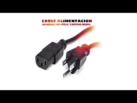 Video de Cable de alimentacion US NEMA5-15P-C13/H 2 M Negro