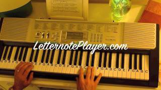 How to Play ~ All My Life ~ K-Ci & JoJo ~ LetterNotePlayer ©