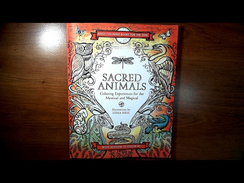 Sacred Animals by Lydia Hess| Coloring Book Review