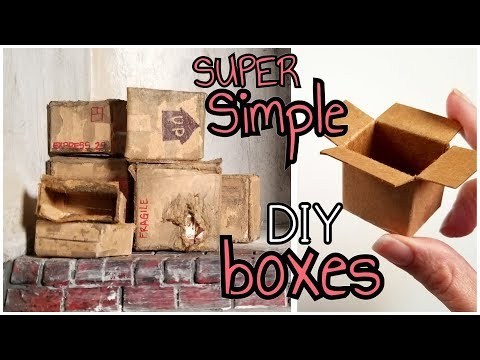 DIY Miniature Cardboard Boxes for your Dollhouse