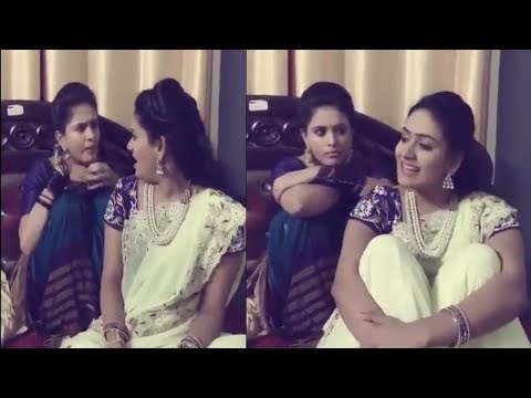 Muddha Mandaram Thanuja & Sunanda Fun on Sets, Singing Songs || Happinez Is Free