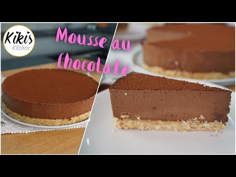 Ohne Backen: Mousse-Au-Chocolate-Torte / so luftig und lecker / No Bake Schokotorte mit Keksboden
