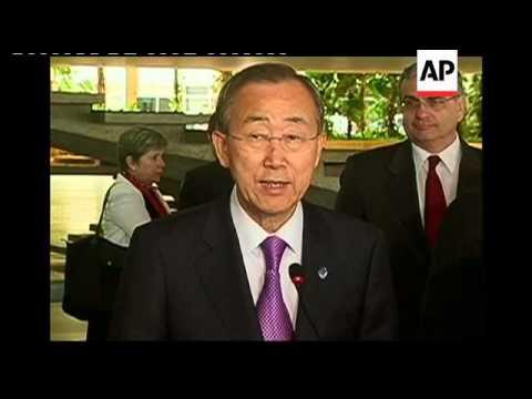 UN secretary-general Ban Ki-moon comments on Syria