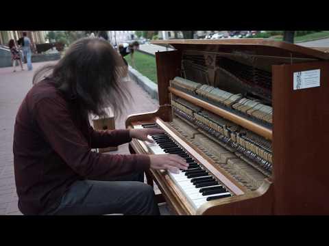 Talented ukrainian pianist