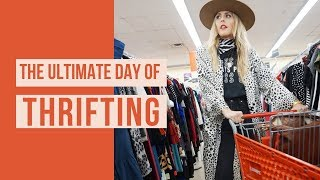 COME THRIFTING WITH ME// THE ULTIMATE DAY OF THRIFTING AND MY NEW WEBSITE LAUNCH