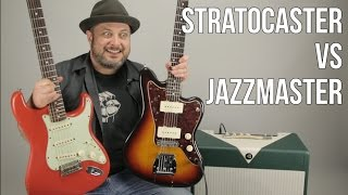 Stratocaster VS Jazzmaster Which Guitar Do You Like More ? Marty Schwartz Shows his Guitars