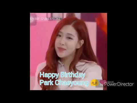Happy Birthday Park Chaeyoung Rose 2019 Roseday Rose