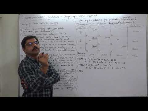 Transportation - 23 Stepping Stone Method - Part 2 of 3 Evaluating the Improved Solution