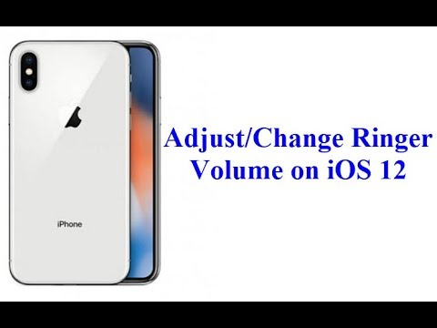 How to Change/Adjust/Increase Ringer Volume on iOS 12 (iPhone & iPad)