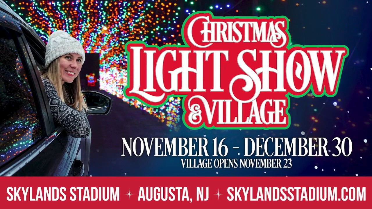 Skylands Christmas Light Show 2020 2018 Christmas Light Show & Village at Skylands Stadium   YouTube