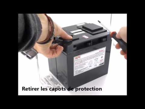 changement de la batterie onduleur apc rbc55 battery cartridge 55 youtube. Black Bedroom Furniture Sets. Home Design Ideas