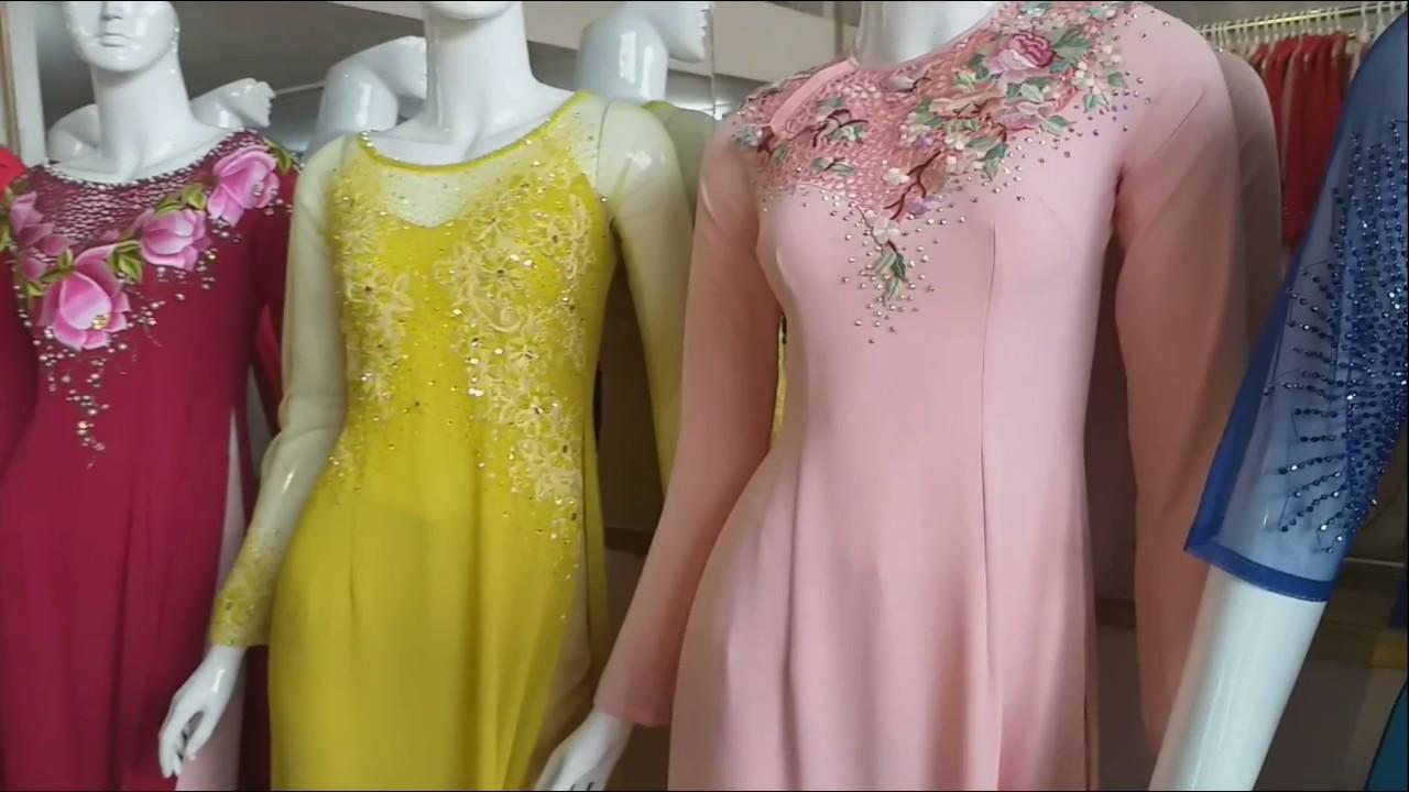 3: Địa chỉ may áo dài tuyệt đẹp ở Sài Gòn HUE CAO VLOG.( beautiful long dress)