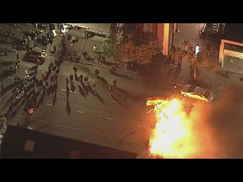 Oakland protest following death of George Floyd turned violent