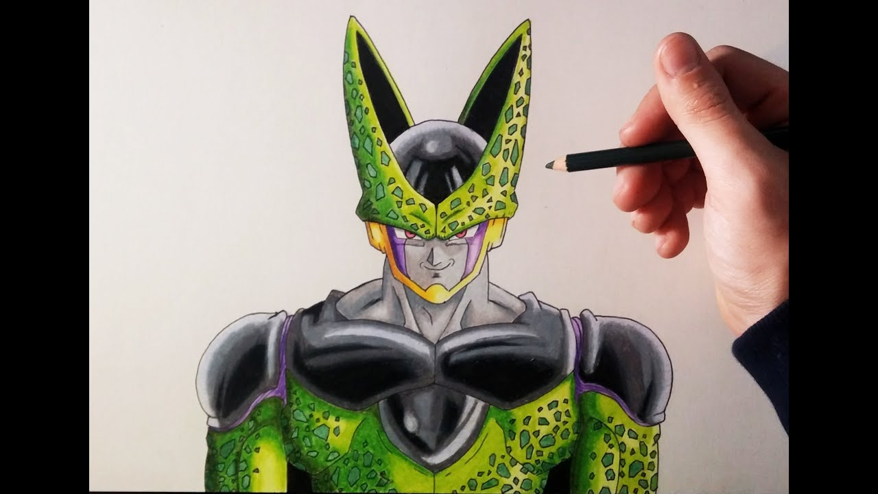 Cómo dibujar a Cell Perfecto Paso a paso | How to draw Perfect Cell ...