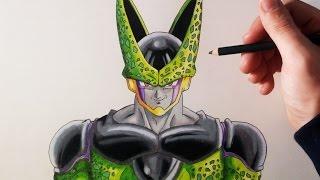 Cómo dibujar a Cell Perfecto Paso a paso | How to draw Perfect Cell | ArteMaster | Dragon Ball Z