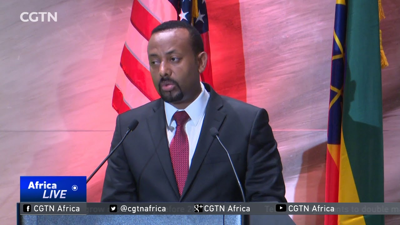Prime Minister Abiy Ahmed meets Ethiopians living in America