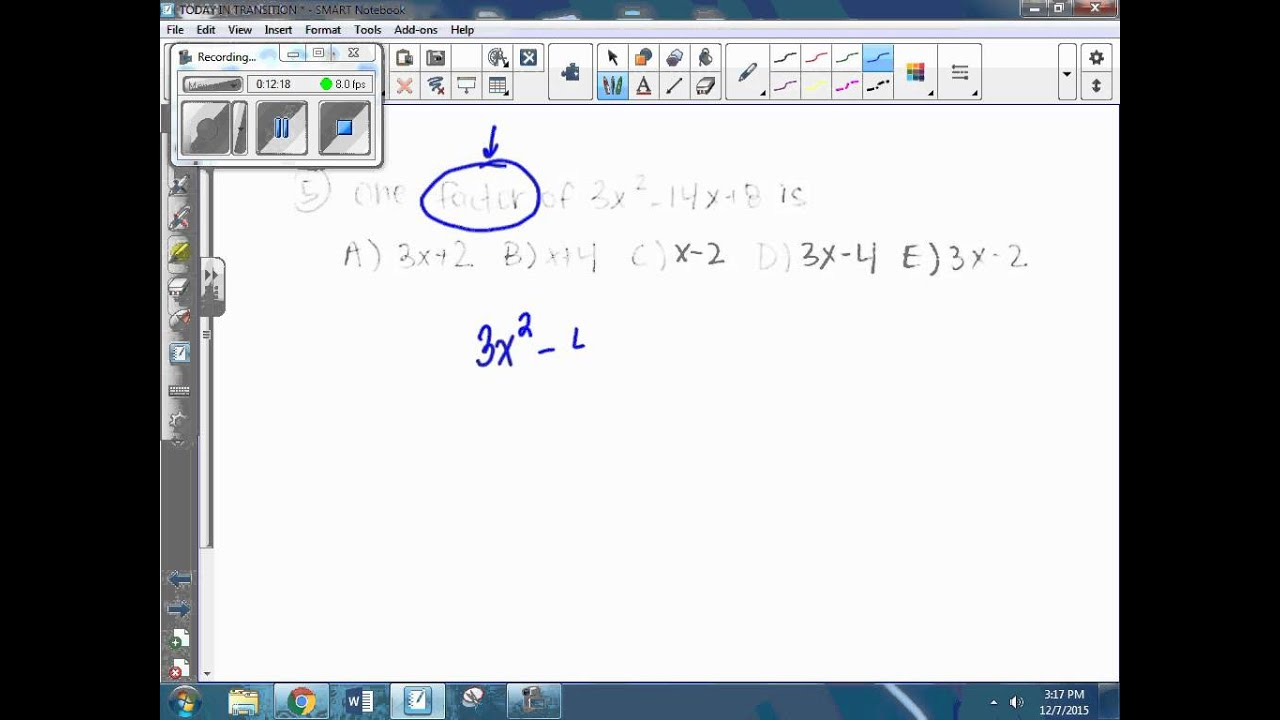 Transition Math Practice KYOTE BANK - YouTube