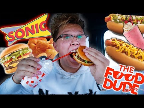 REVIEWING THE ENTIRE MENU AT SONIC DRIVE-IN | Food Dude Ep.24
