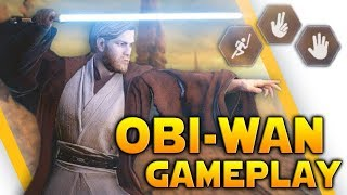 OBI-WAN KENOBI GAMEPLAY: All Abilities, Emotes, Thoughts & More - Battlefront 2