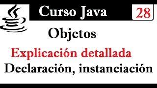 28.- Clases y objetos en Java- Declaración, instanciación- Explicación detallada.